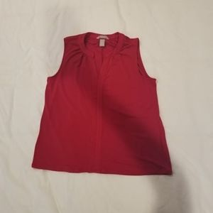 Red Tank Top Blouse